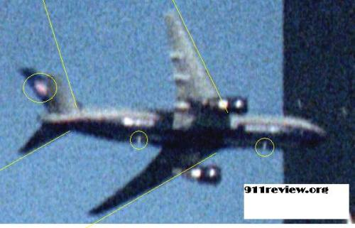 holographic image cloaking Cruise Missile; note