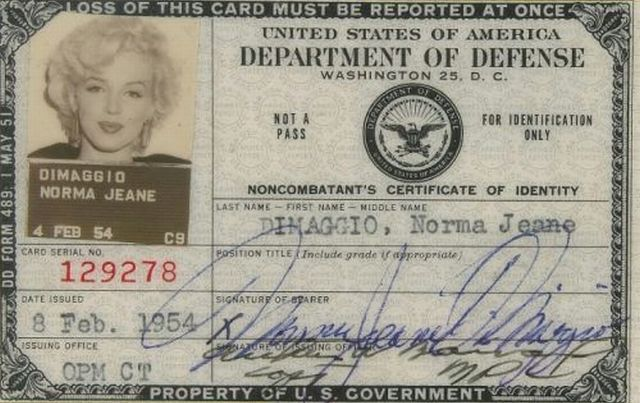 "Norma Jean DiMaggio ""Controlled Military Asset"""